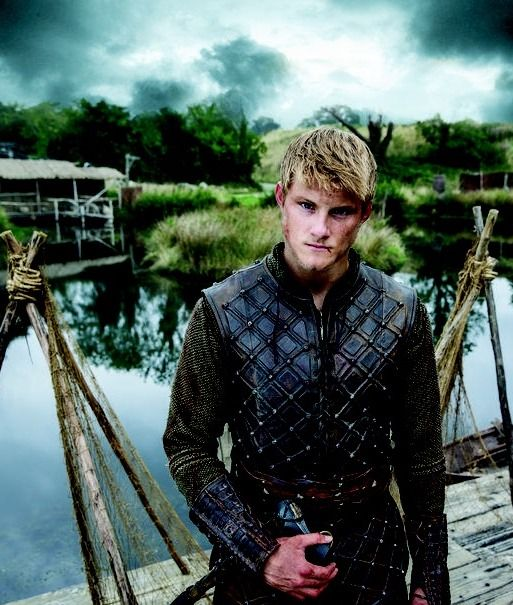 Alexander Ludwig as Bjorn Lothbrok in Vikings (Cato in Hunger Games)