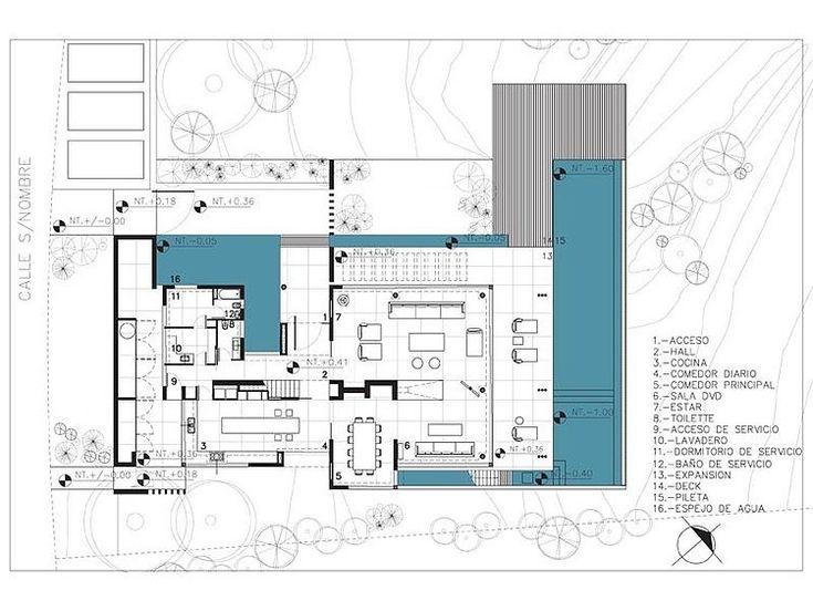 agua house by barrionuevo sierchuk - Architecture Moderne Maison Dessin