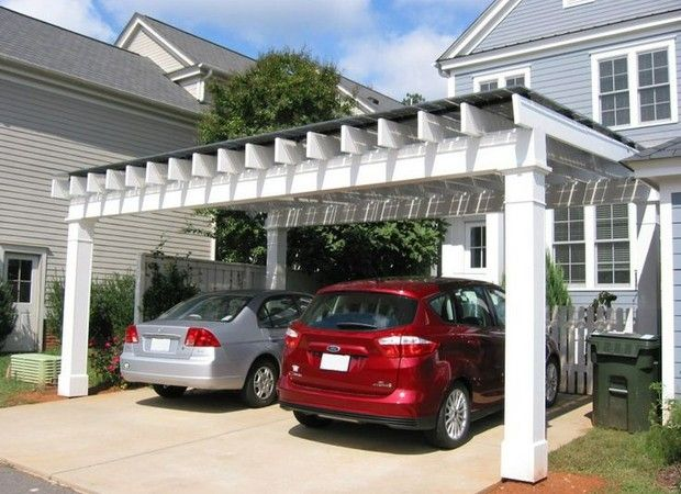 Carport Design Is Good Ideas To Beautify Facade, Bungalow And Mobile Homes.  In Common