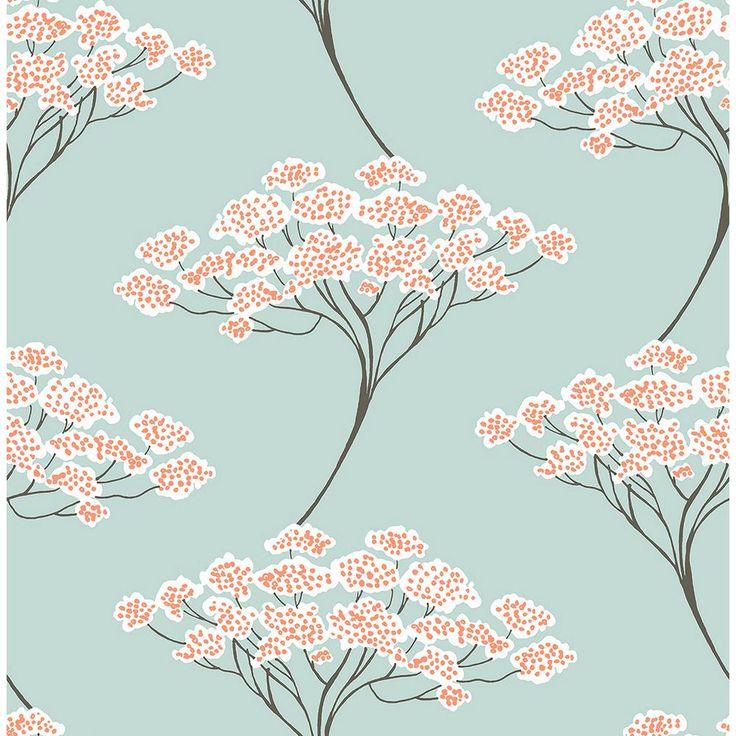 Kenneth James Banyan Light Blue Trees Wallpaper