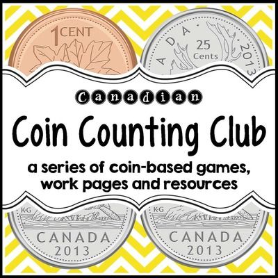Coin Counting Club (Canadian Version) from Jillian Starr on TeachersNotebook.com - (70 pages) - Teach Canadian money with this 70-page collection of games, activities, work pages, resources and posters. This product a great way to enhance your math centres, ensure meaningful practice and reinforcement of essential coin counting skills, and provide y