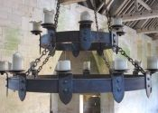 Medieval-style candle chandeliers