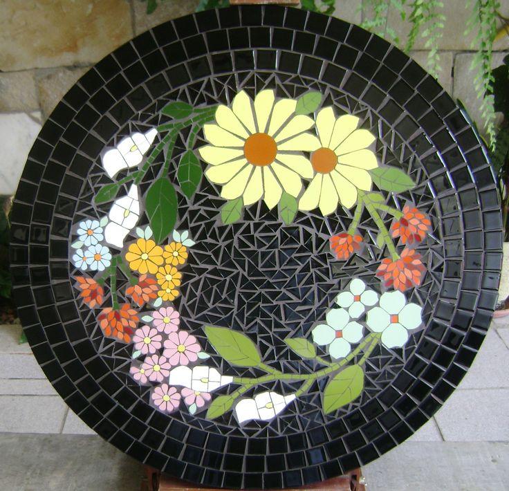 Tampo de mesa em mosaico | Morena Brasil | Elo7