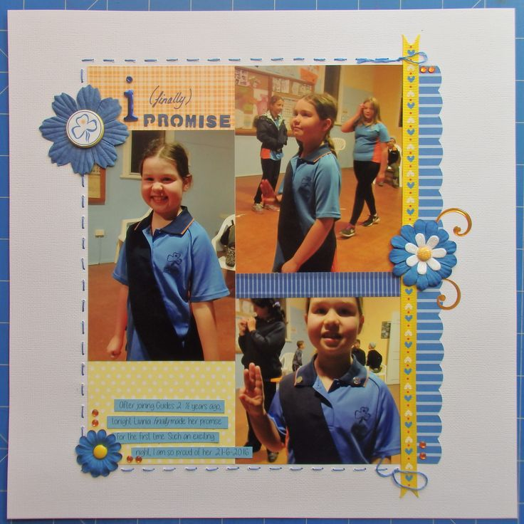 Scrapbook page by Laura: I (finally) promise