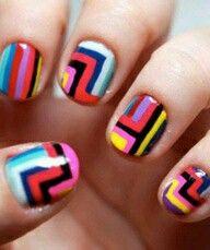 Gekleurde nagels