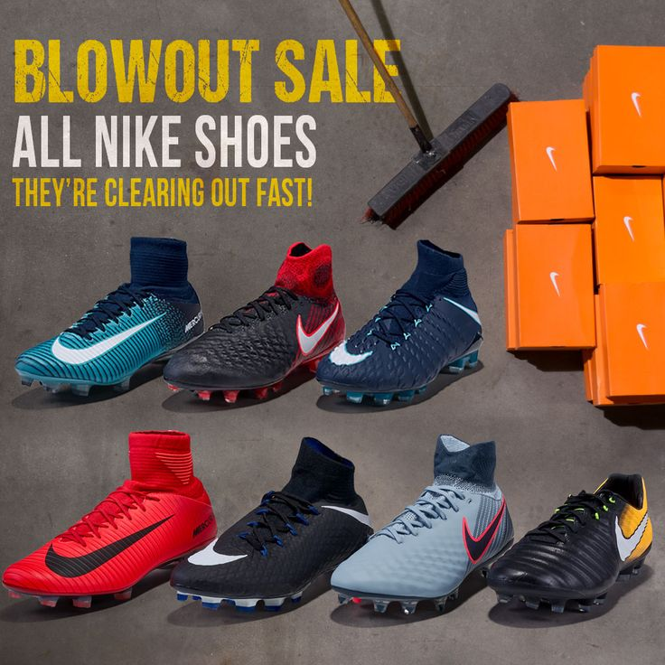 Blowout deals on Nike Soccer Shoes at SoccerPro! Shop > https://www.soccerpro.com/Nike-Soccer-Shoes-c265/