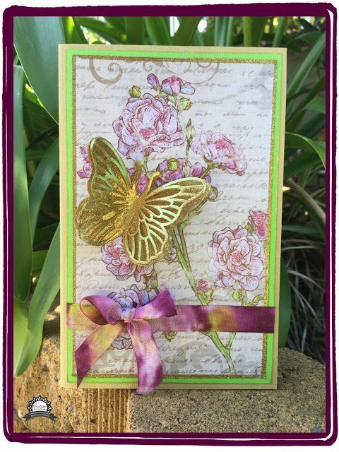"Artdeco Creations Brands: Butterfly Magic by Anita Enright  Featuring: ULT157761 - L'Aquarelle - 12x12"" Paper Pad  ULT157752 - L'Aquarelle - Watercolour Butterfly Decorator Die"