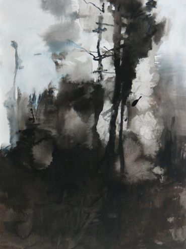 Fire in the Forest, painting by artist Randall David Tipton
