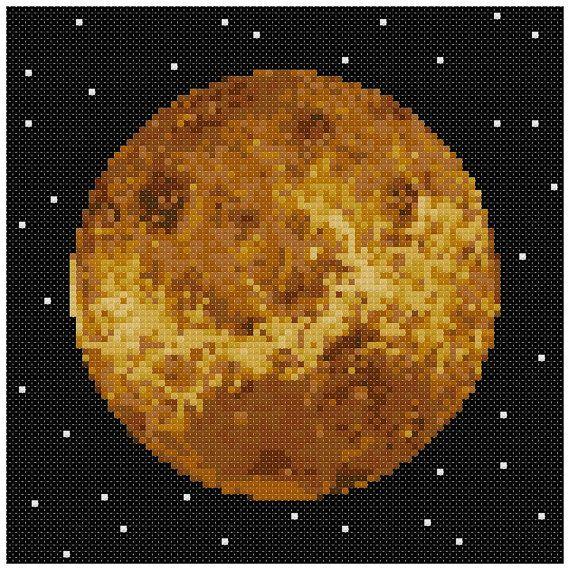 PDF Cross Stitch pattern : 0058.Venus planet by PIXcross