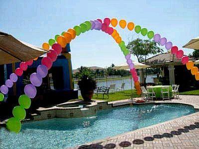 16 besten pool party bilder auf pinterest schwimmb der geburtstagsfeier ideen und strandparty. Black Bedroom Furniture Sets. Home Design Ideas