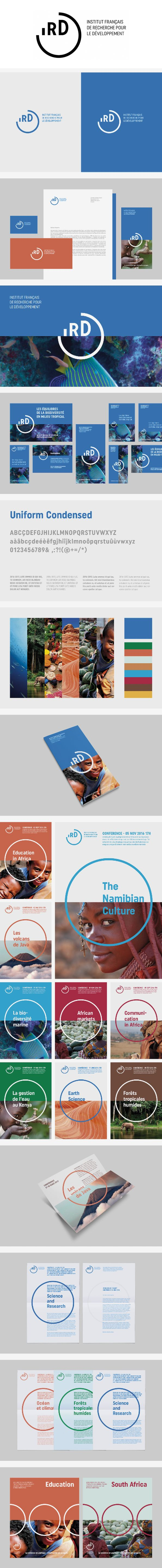 More corporate-designs are collected on: https://pinterest.com/rothenhaeusler/best-of-corporate-design/ · Agency: Grapheine · Client: IRD, Institut de recherche pour le développement · Source: https://www.grapheine.com/portfolio/branding-institut-de-recherche-developpement #branding #identity #corporatedesign