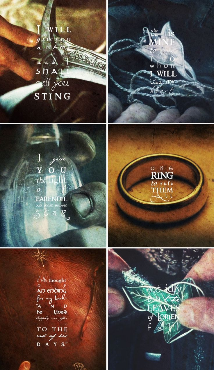 Iconic lotr objects