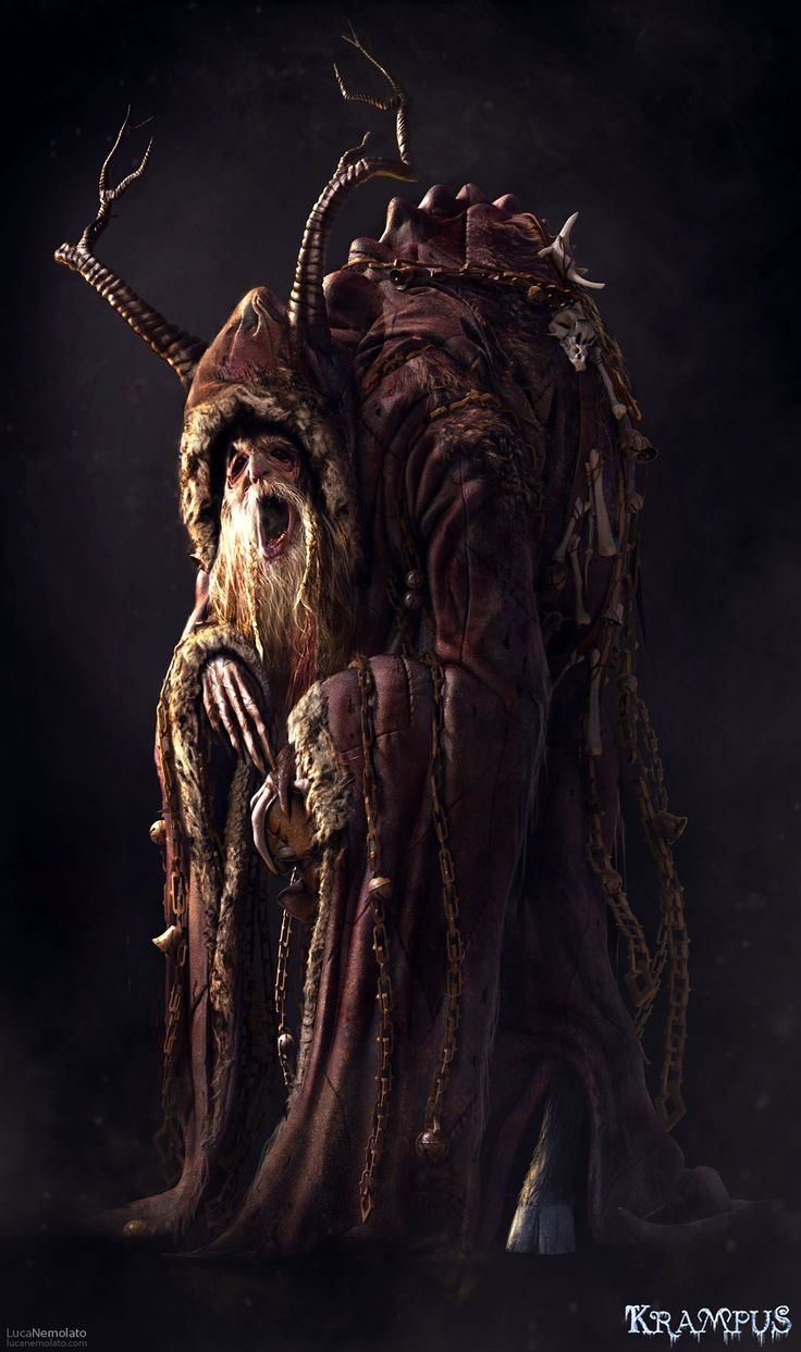 "Krampus - concept art by Luca Nemolato  This Christmas Krampus is coming !  This is the final character design of Krampus I did for the movie ""Krampus"".  This was a really fun project to work on, I had a great time !"