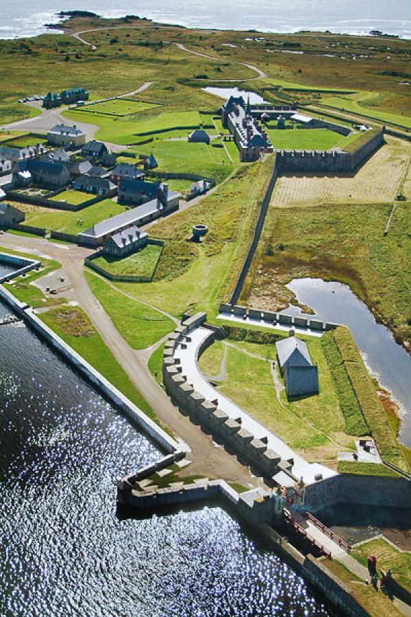Areal View Fortress of Louisbourg, Nova Scotia