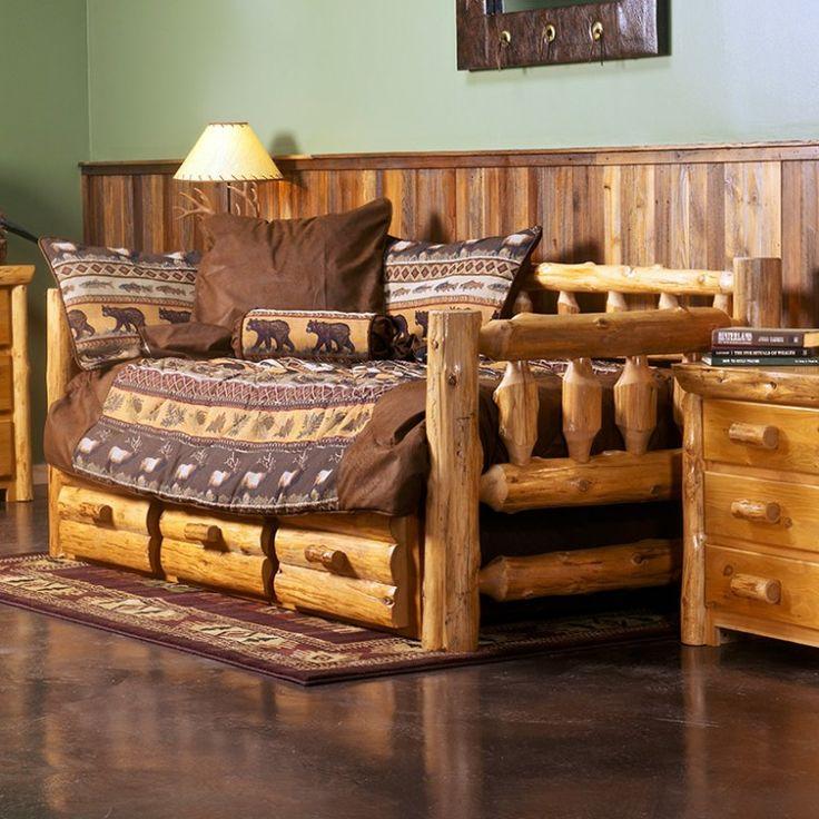 Superb Cedar Lake Rustic Log Daybed