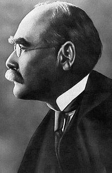 "Rudyard Kipling, 1865-1936, (Br.) author, poet. ""The White Man""s Burden,"" ""Gunga Din,"" The Jungle Book."