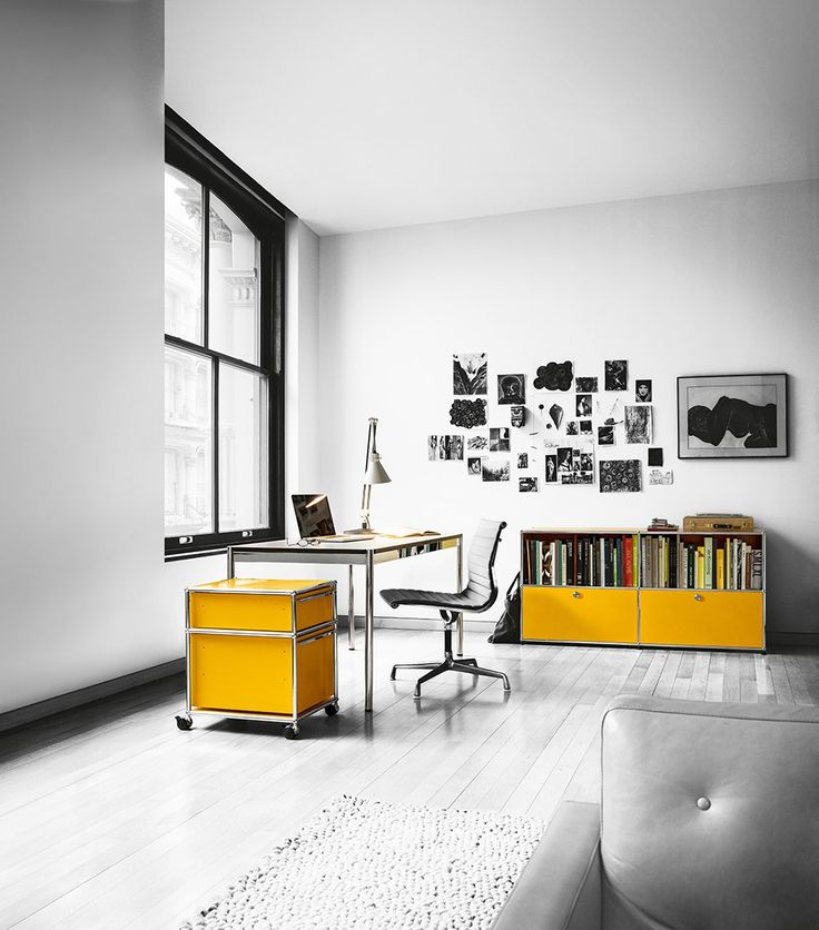 Contemporary style steel writing #desk USM Haller Home Office Table | design Fritz Haller @usmfurniture