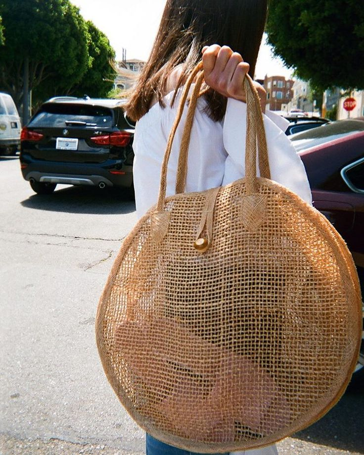 Vintage Woven Circle Tote