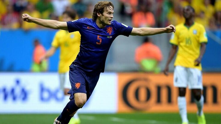 Blind celebrated his goal