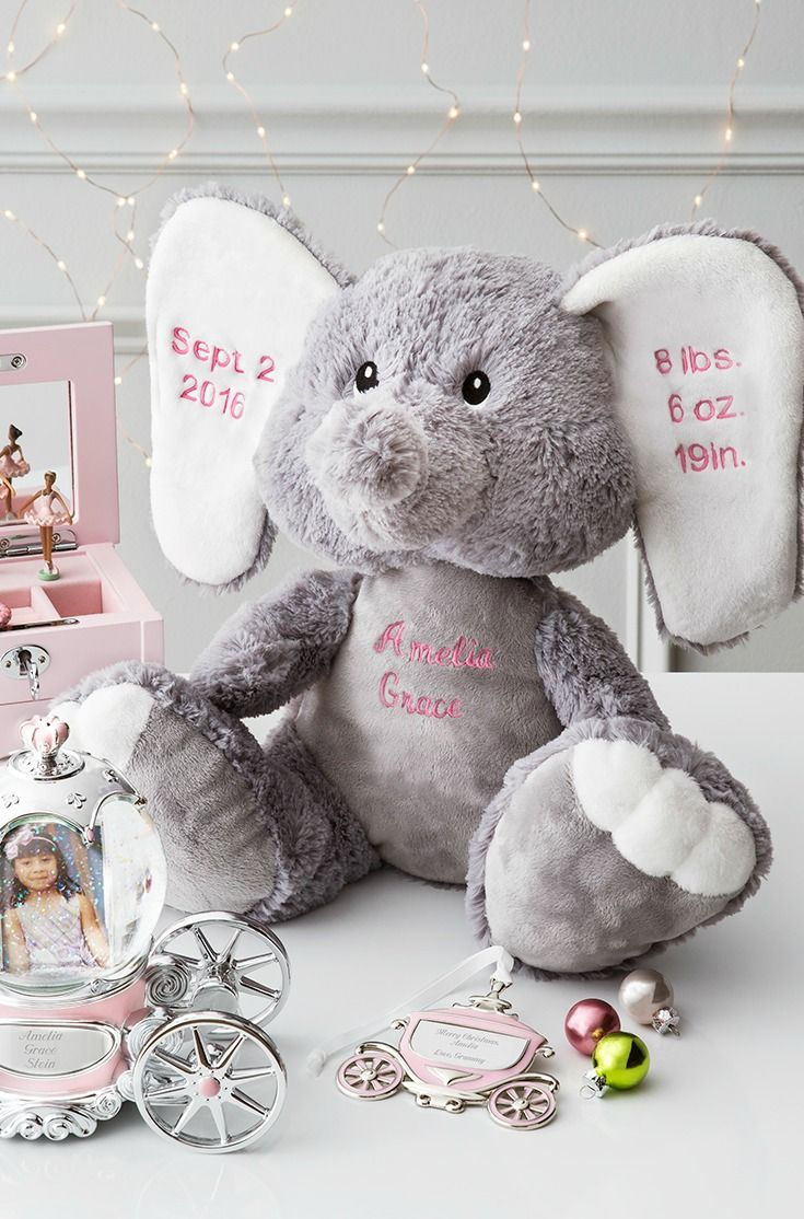 24 best baby gifts images on pinterest baby gifts baby presents we have the perfect present for the new mom personalize this plush elephant with babys negle Gallery