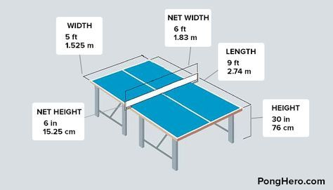 25 best ideas about ping pong table on pinterest ping - Table tennis table size and specifications ...