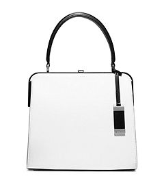 Cary Medium Leather Top-Handle Bag