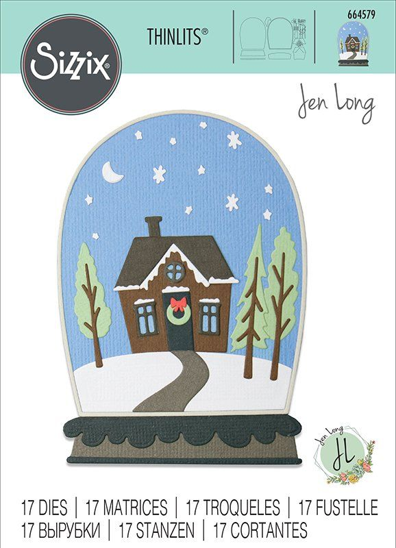 Sizzix Christmas Dies 2021 Sizzix Christmas Bell Jar Diorama Thinlits Die In 2021 Sizzix The Bell Jar Christmas Cards To Make