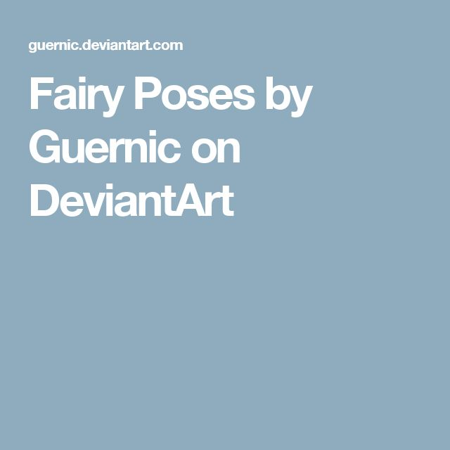 Fairy Poses by Guernic on DeviantArt