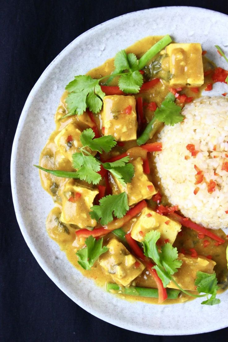 Peanut Tofu Satay Curry (Vegan + GF)