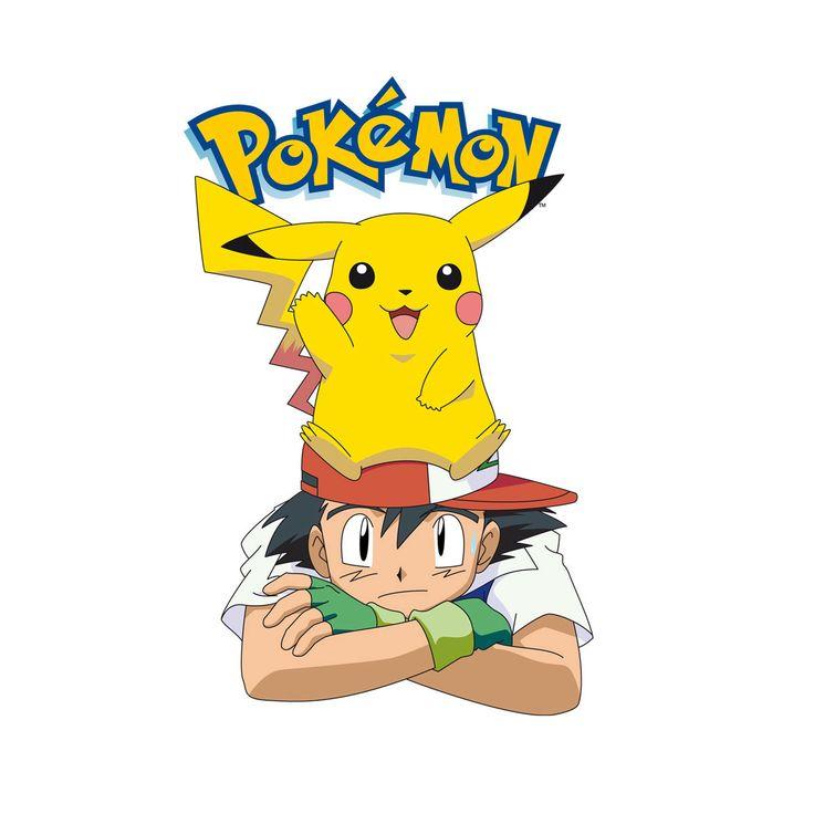 Camiseta niño Pokemon. Ash y Pikachu, cabeza Divertida camiseta para niño con la imagen de Ash Ketchum y Pikachu, sobre su cabeza, los protagonistas del anime Pokemon, creado por Satoshi Tajiri.