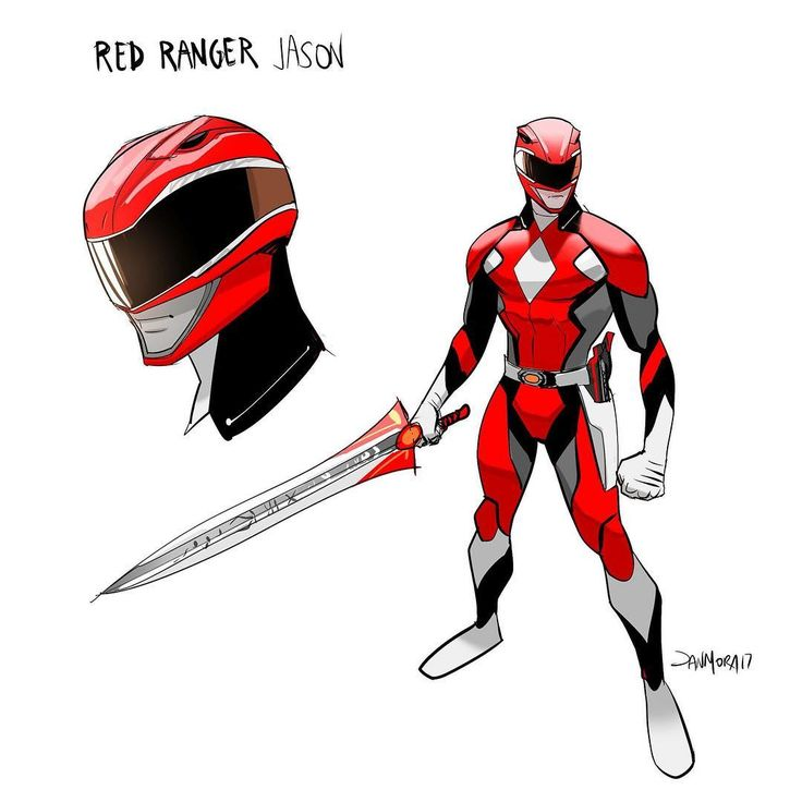 MMPR Red Ranger Redesign by - Dan Mora Chaves | The power sword redesign is reminiscent of the Megazord's sword, clean and simple. #∆∆shani