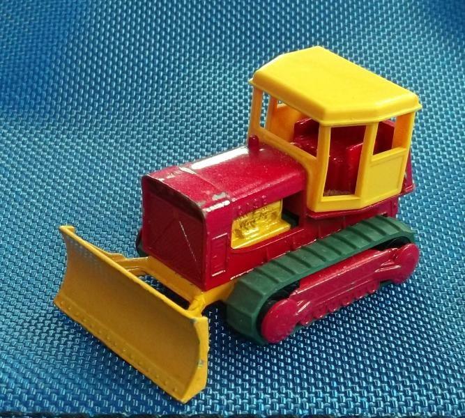 Matchbox Planierraupe mit Ketten aus meiner Kindheit ca. 50 Jahre alt