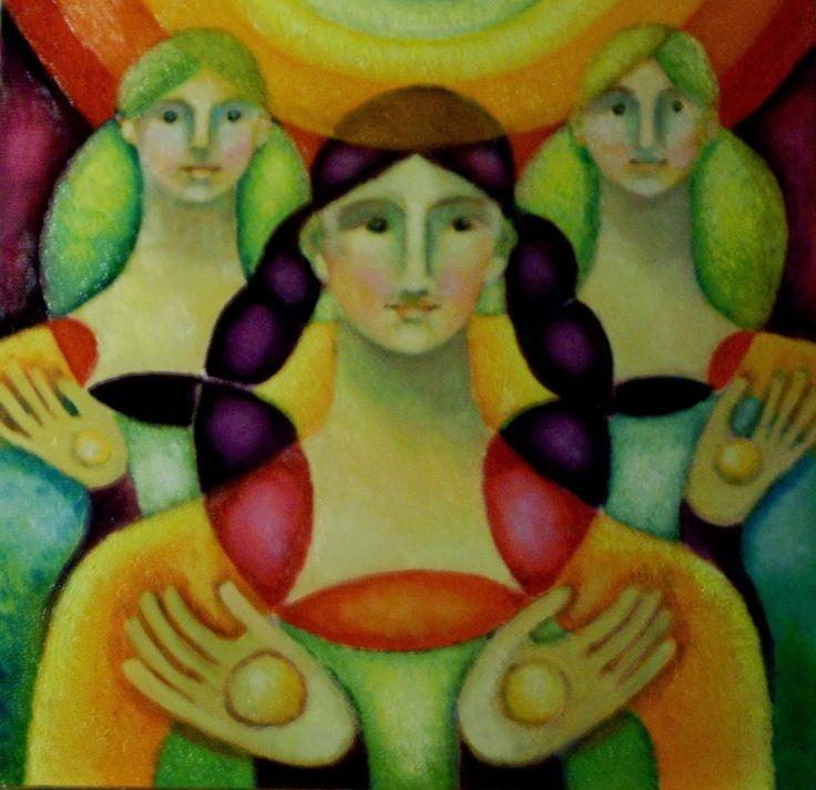 He escogido esta imagen de  Rosa María Gallego y llamada energía solar porque representa en ella la simetría reflectiva que yo buscaba para mostrar como ejemplo,también la he escogido porque me llamaba la atención entre varios ejemplos de simetría.