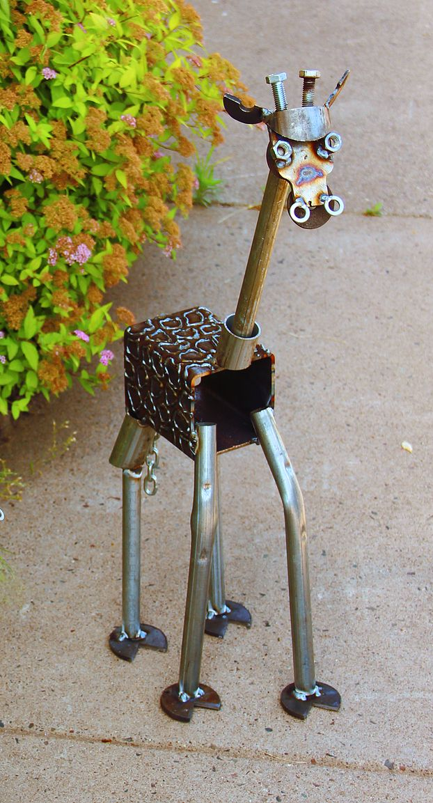 original hinz und kunst metalltier giraffe metal artwork t