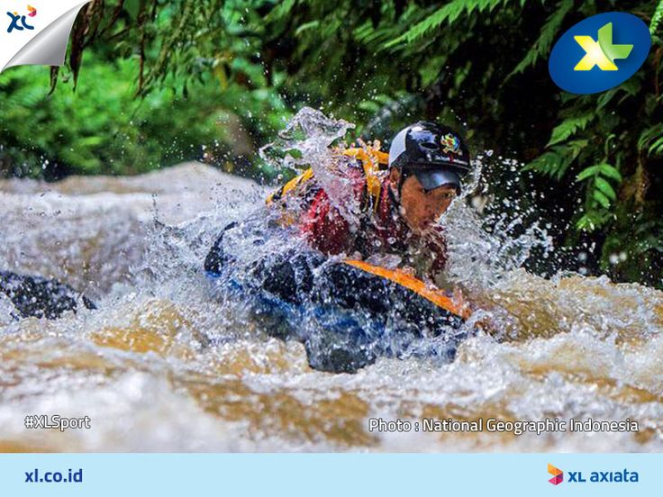 Suka tantangan dengan berolahraga ekstreme? #LoveAdrenaline Cobain aja riverboarding!  Buat kamu yang pengen riverboarding menantang arus sungai di Citarum, Bandung atau sungai Serayu di Banjarnegara. #XLSport