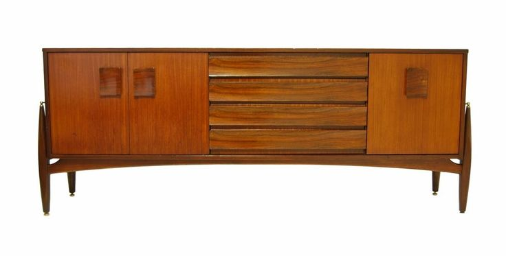 Mid Century Rocket legs Teak and Rosewood Credenza, Media console or TV stand #EON #MIDCENTURYMODERN