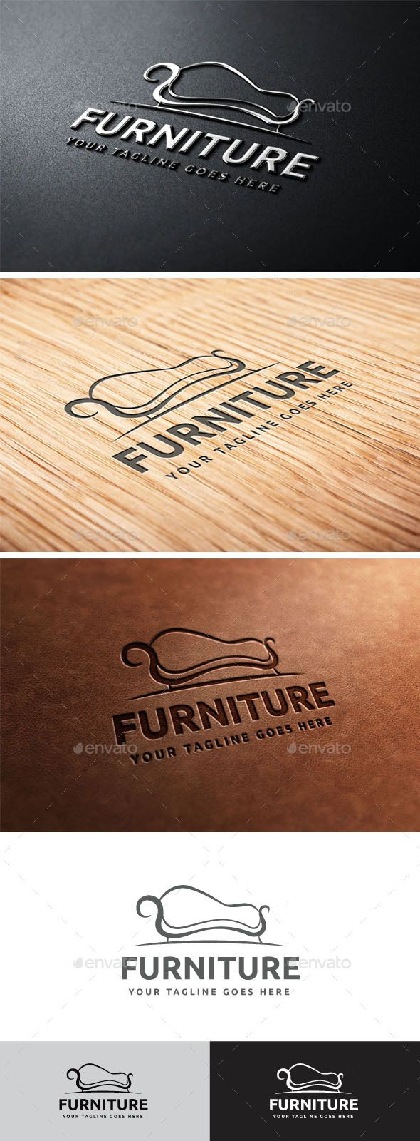 Furniture Logo — Vector EPS #bed logo mark #clean design • Available here → https://graphicriver.net/item/furniture-logo/10770840?ref=pxcr