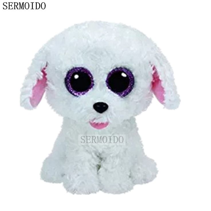 Beanie Boos Original Big Eyes Plush Toy Kawaii Doll White Poodle Stuffed Animals S23