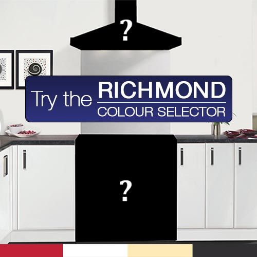 The Richmond Colour Selector will let you pair range cookers and hoods: black, cream, red... see how they look together: http://www.belling.com.au/choose-Richmond-choose-colour