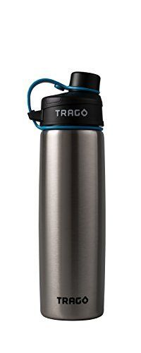 Trago Smart Water Bottle w/ Bluetooth and Hydration Tracking App (20 oz.) - Stainless Steel Bottle - Ideal for Sports, Fitness, Travel, and Health - BPA Free
