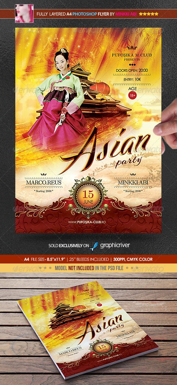 Asian Party Poster/Flyer