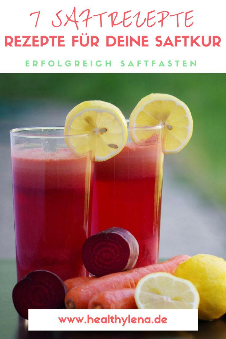 Juice it, baby! Heute wird es fruchtig-frisch: Heute verrate ich euch 7 spannende Saftrezepte, die euch das Saftfasten versüßen können. #rezepte #rezept #saft #säfte #entsaften #juicing #detox #frühling #saftfasten #smoothie
