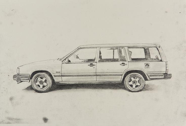 "Volvo 740 Wagon Drawings 2012 Graphite on Rives paper 13""x19"""