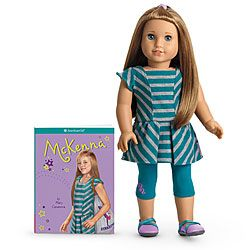 American Girl of the year Doll 2012 ~ McKenna ~ Balancing school and sports is a challenge for McKenna Brooks as she enters fourth grade. When she struggles with reading, she must find a way to keep up. Can McKenna use her strengths as a gymnast to succeed in the classroom, too?