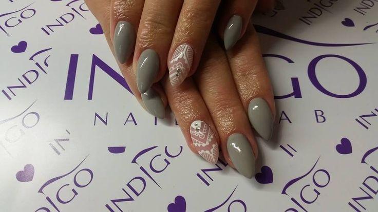 by Agata Małecka  :) Find more inspiration at www.indigo-nails.com #nailart #nails #indigo #fat #cat #sugar #effect #grey #pastel #autumn