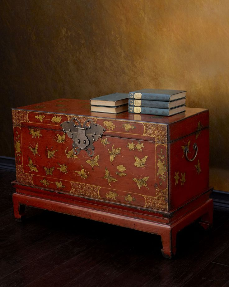 Antique Butterfly Trunk - Neiman Marcus