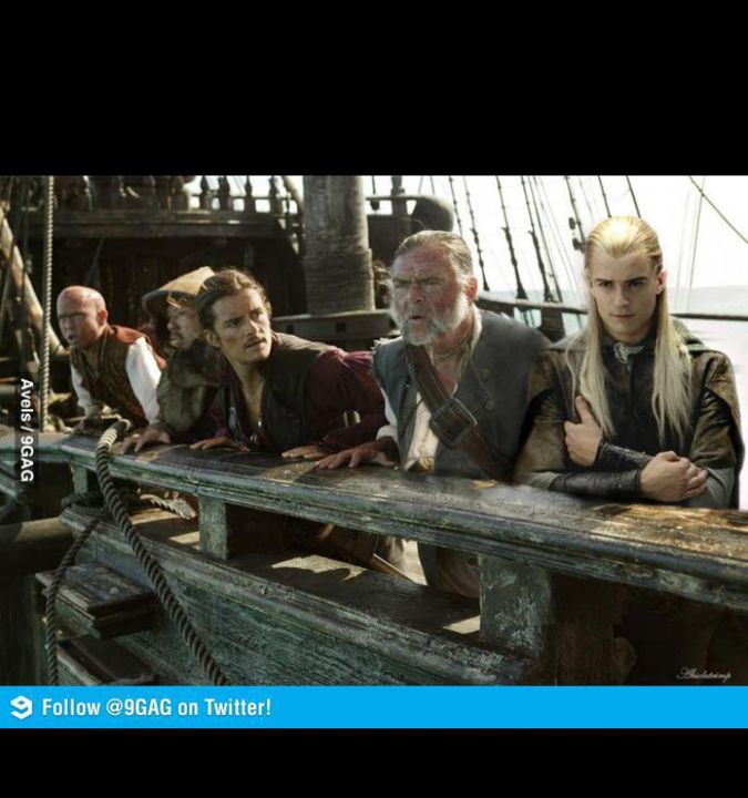 Will: you look like me? Legolas: you look like me.  Elizabeth: WILL SAVE ME?!