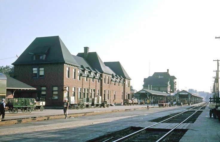 MONCTON, New Brunswick RR Station 1950
