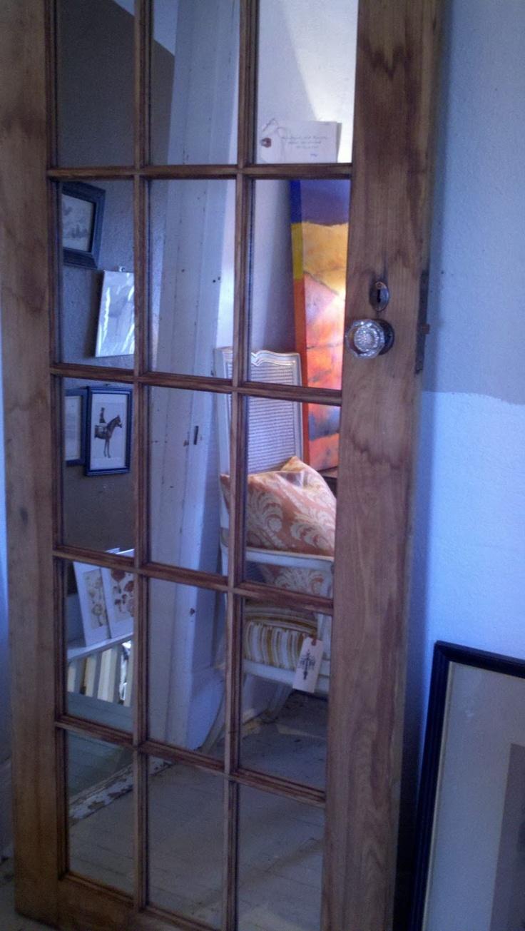 Portes francaises avec miroir pour garde-robe d'entrée