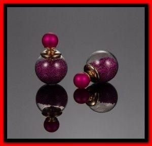 Trendy glazen oorbellen met bolletjes erin in 8 kleuren
